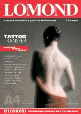 Переводная бумага для временных татуировок. Инструкция по применению