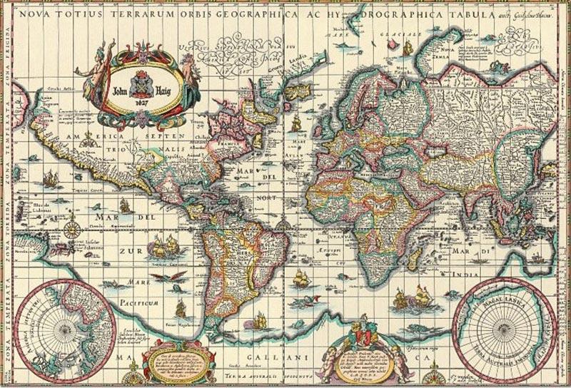 Карта мира в оригинальном исполнении
