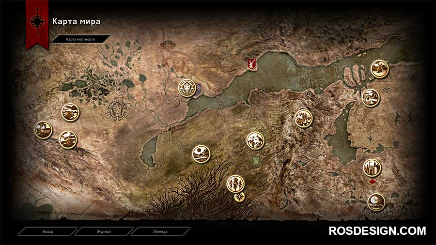 Dragon age inquisition карта локаций